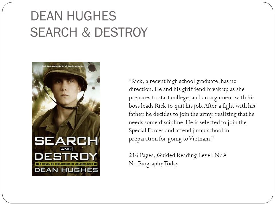 DEAN HUGHES SEARCH & DESTROY