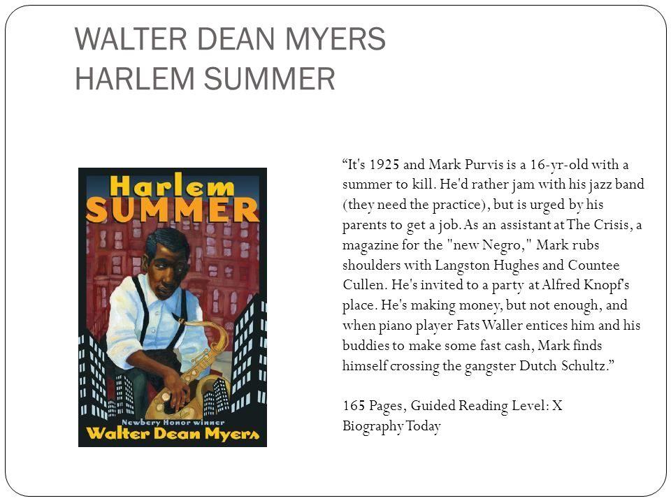 WALTER DEAN MYERS HARLEM SUMMER