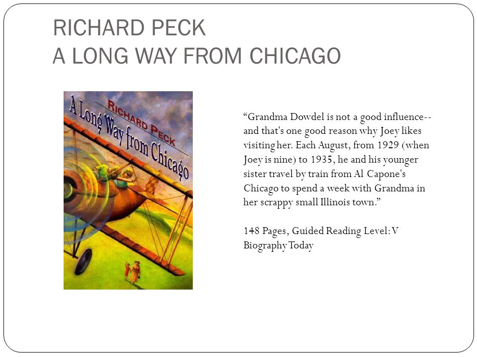 RICHARD PECK A LONG WAY FROM CHICAGO
