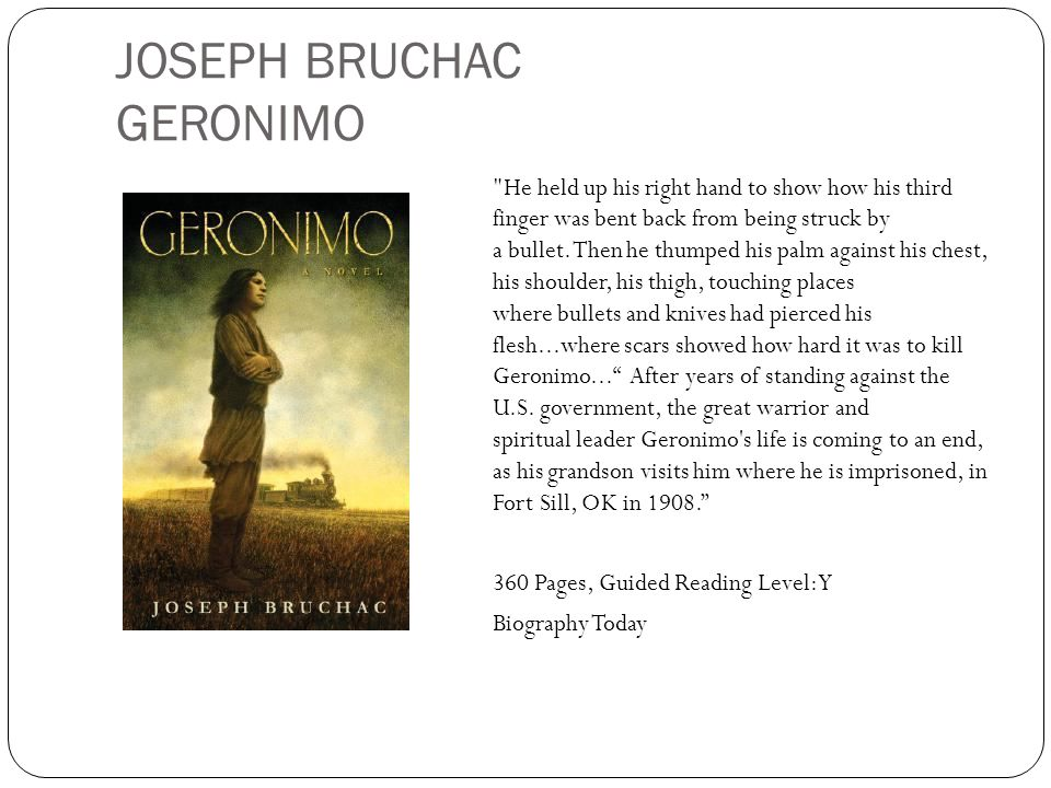 JOSEPH BRUCHAC GERONIMO