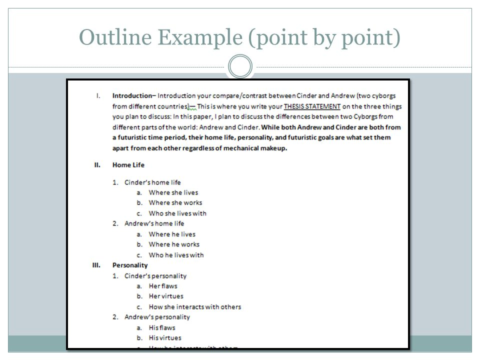 Outline Example (point by point)