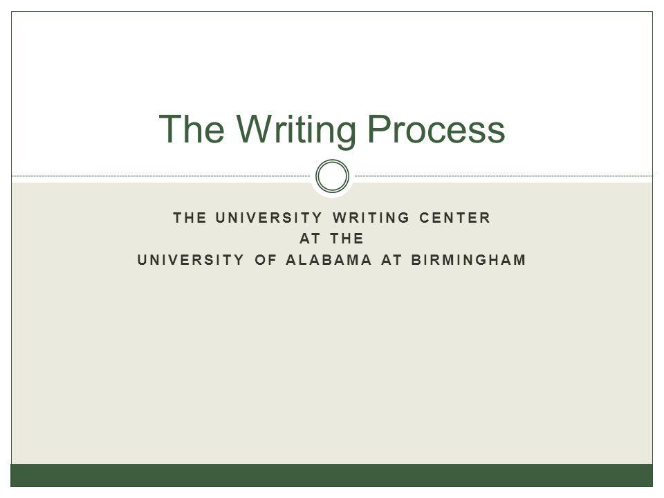 The University Writing Center University of Alabama at Birmingham