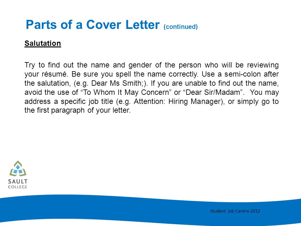 using to whom it may concern in a cover letter - cover letter writing ppt video online download