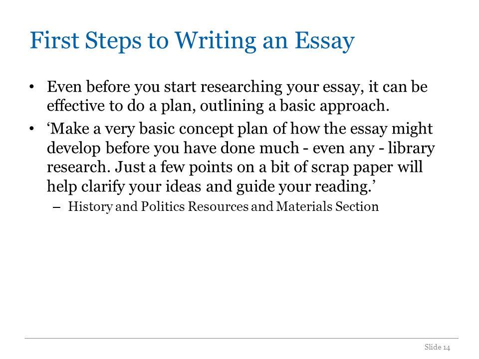 Starting A Narrative Essay