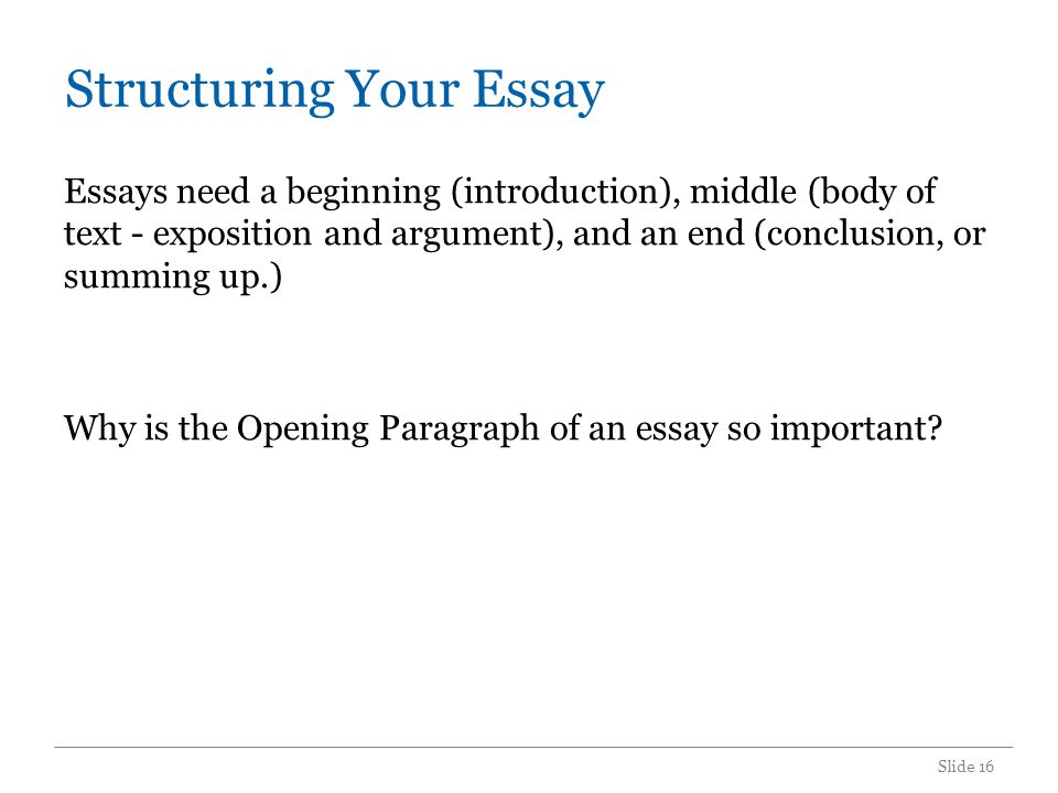 Thesis Statement The Opening Paragraph is where you introduce your argument, or thesis statement.