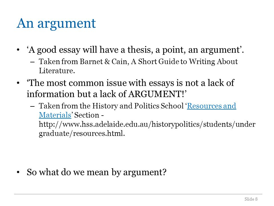 An academic argument