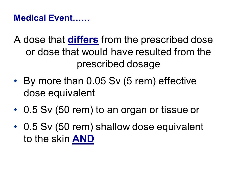 By more than 0.05 Sv (5 rem) effective dose equivalent