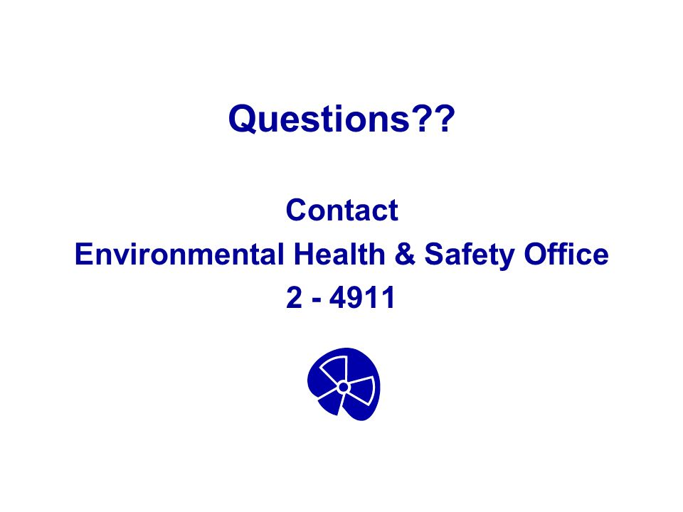 Environmental Health & Safety Office