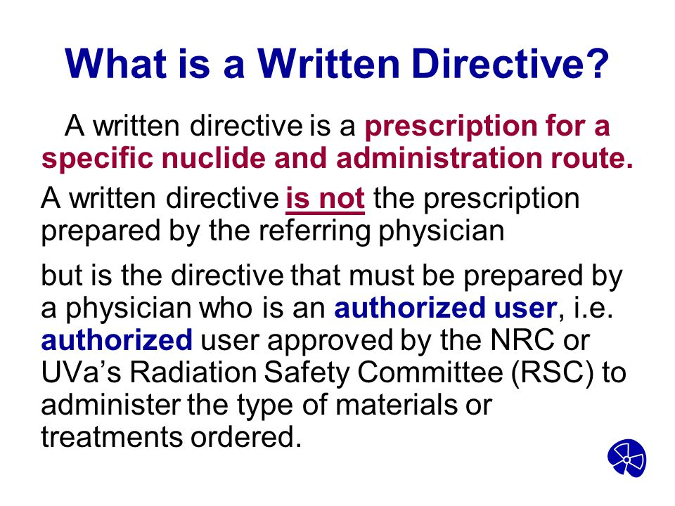 What is a Written Directive