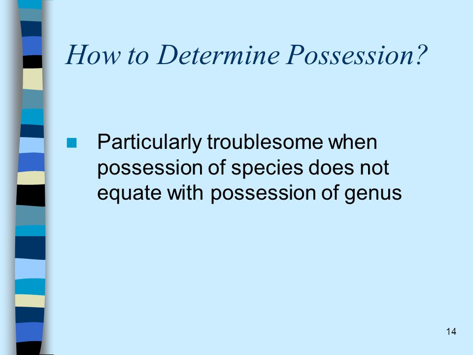 How to Determine Possession