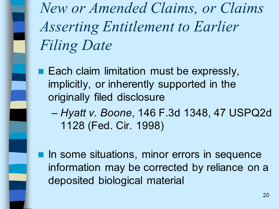 New or Amended Claims, or Claims Asserting Entitlement to Earlier Filing Date