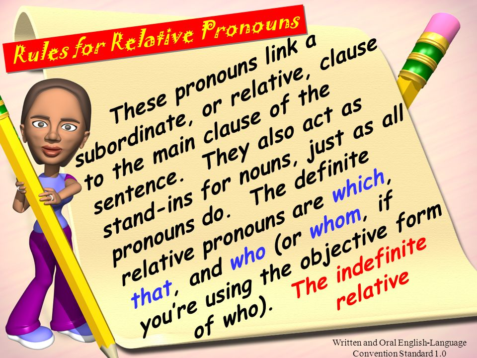 Rules for Relative Pronouns