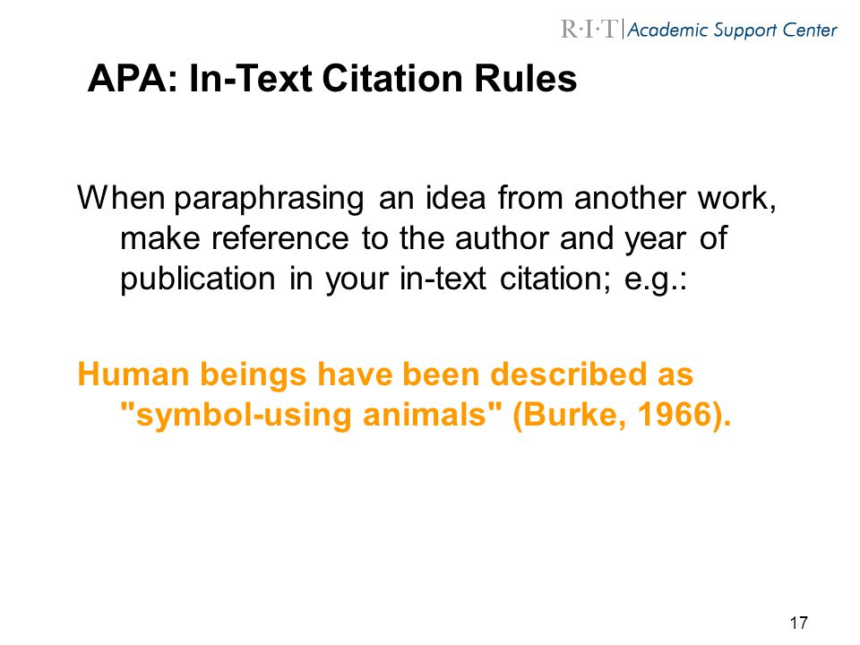 apa citation in text guide