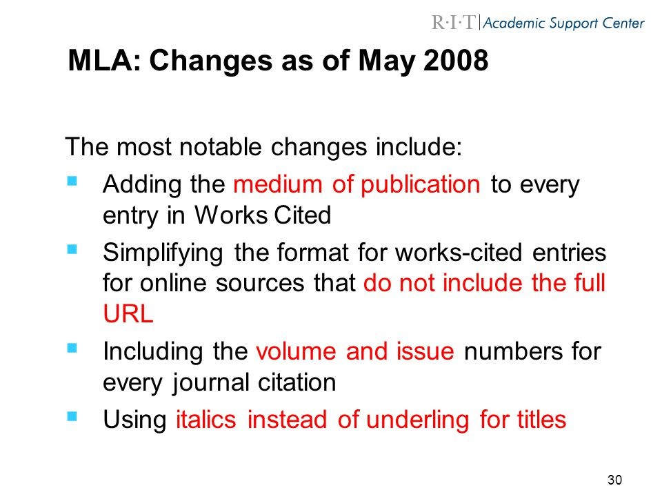 mla format changer The following pages in this section will provide you with more information regarding mla basic formatting, in-text citations, and the works cited entries the information in this section follows the mla handbook, 8th edition mla guidelines do change over time, so it's important to be aware of the most current information.