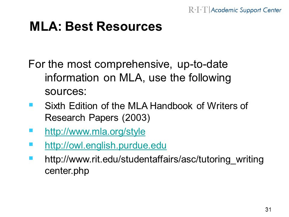 mla style handbook for writers of research papers Mla (modern language association) mla handbook for writers of research papers by joseph a paper written according to mla style will document outside.