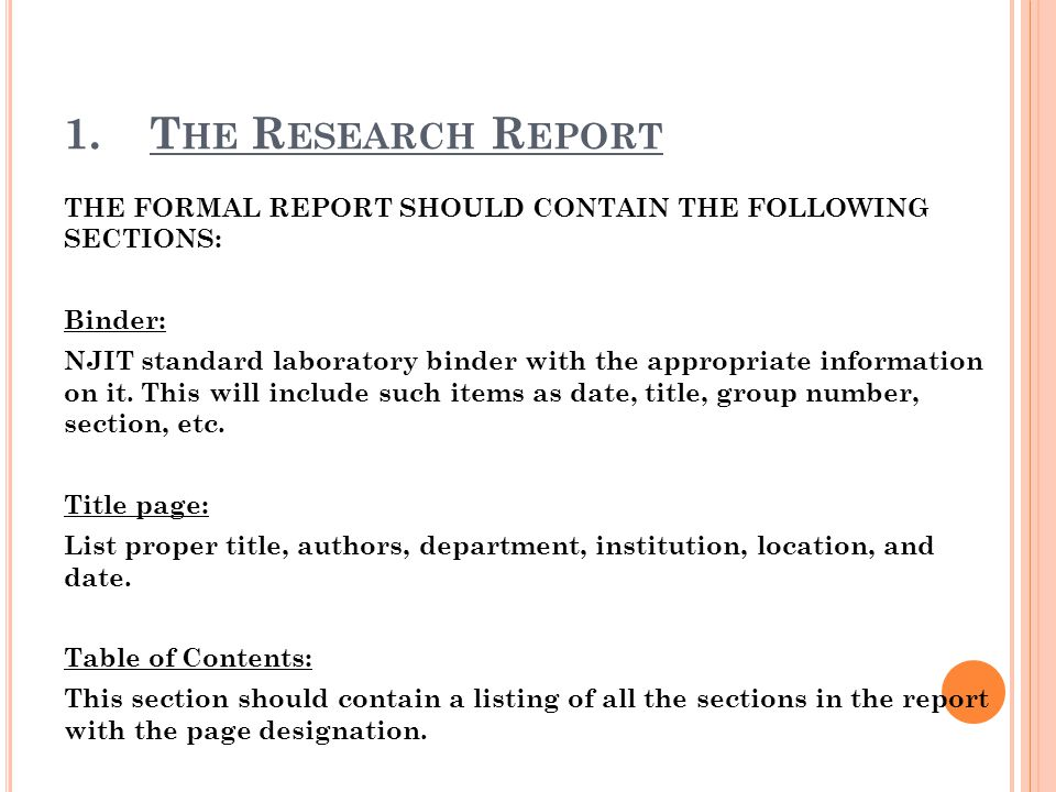 The Research Report