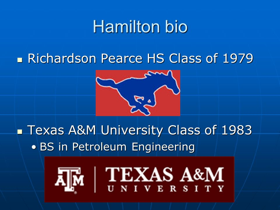 Hamilton bio Richardson Pearce HS Class of 1979
