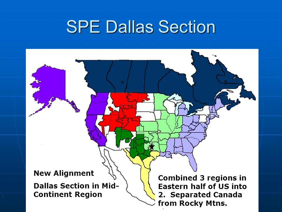 SPE Dallas Section New Alignment