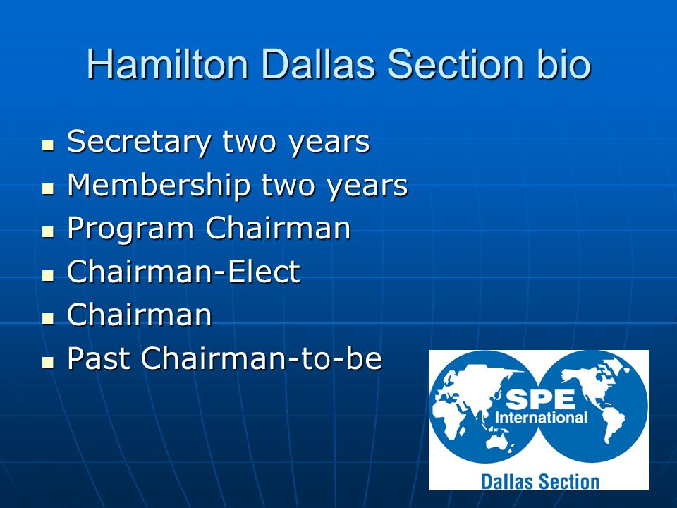 Hamilton Dallas Section bio