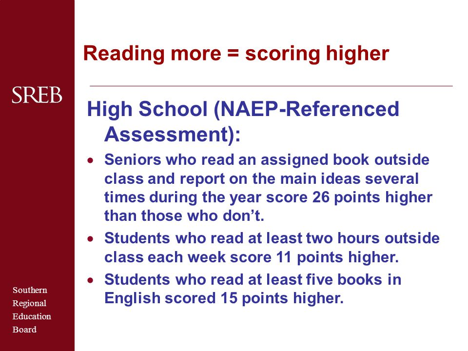 Reading more = scoring higher