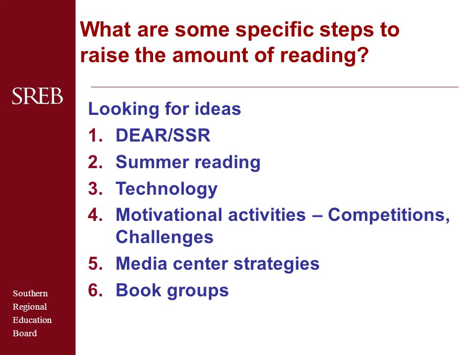 What are some specific steps to raise the amount of reading