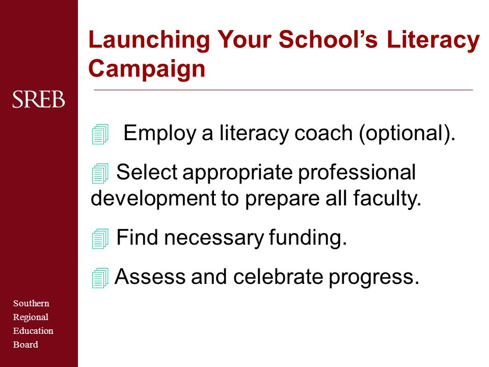 Launching Your School's Literacy Campaign