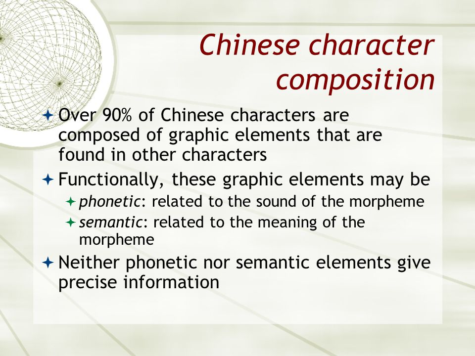 Chinese character composition
