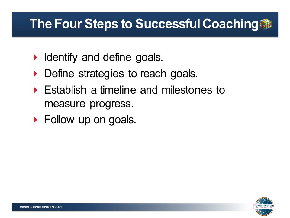 The Four Steps to Successful Coaching