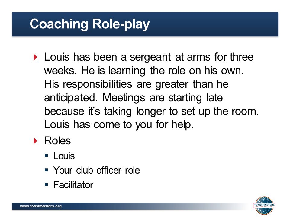 Coaching Role-play