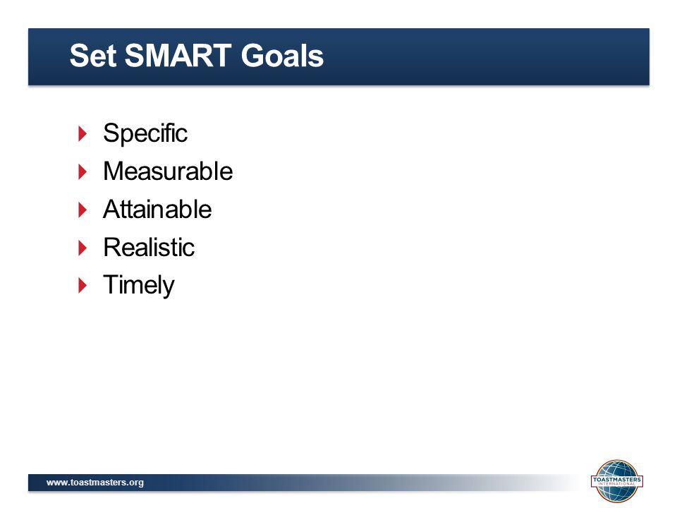 Set SMART Goals Specific Measurable Attainable Realistic Timely