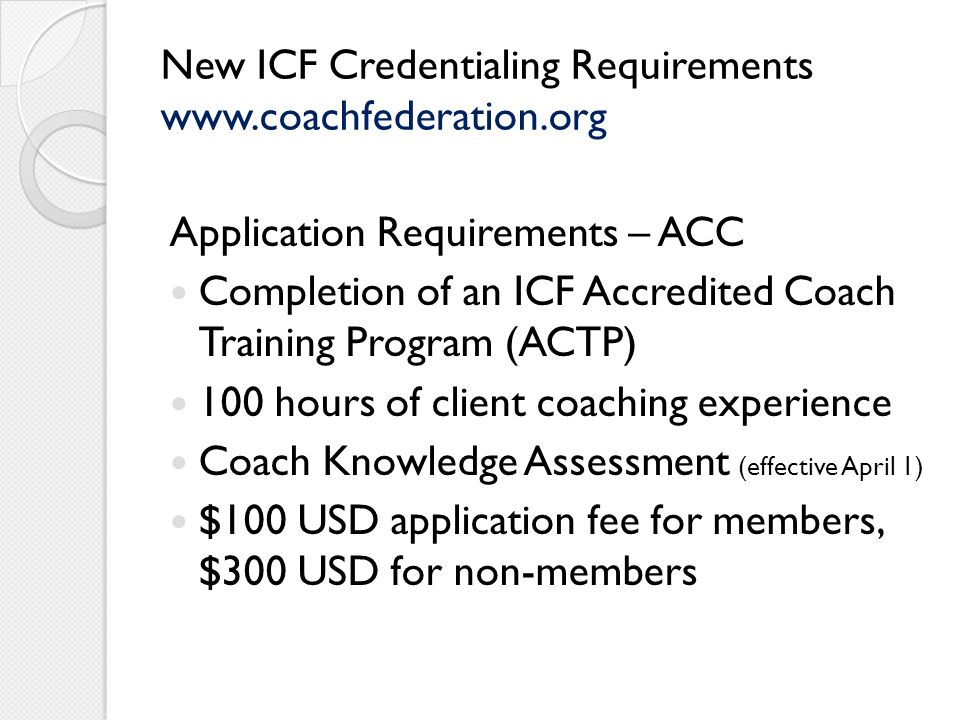 New ICF Credentialing Requirements - ppt download