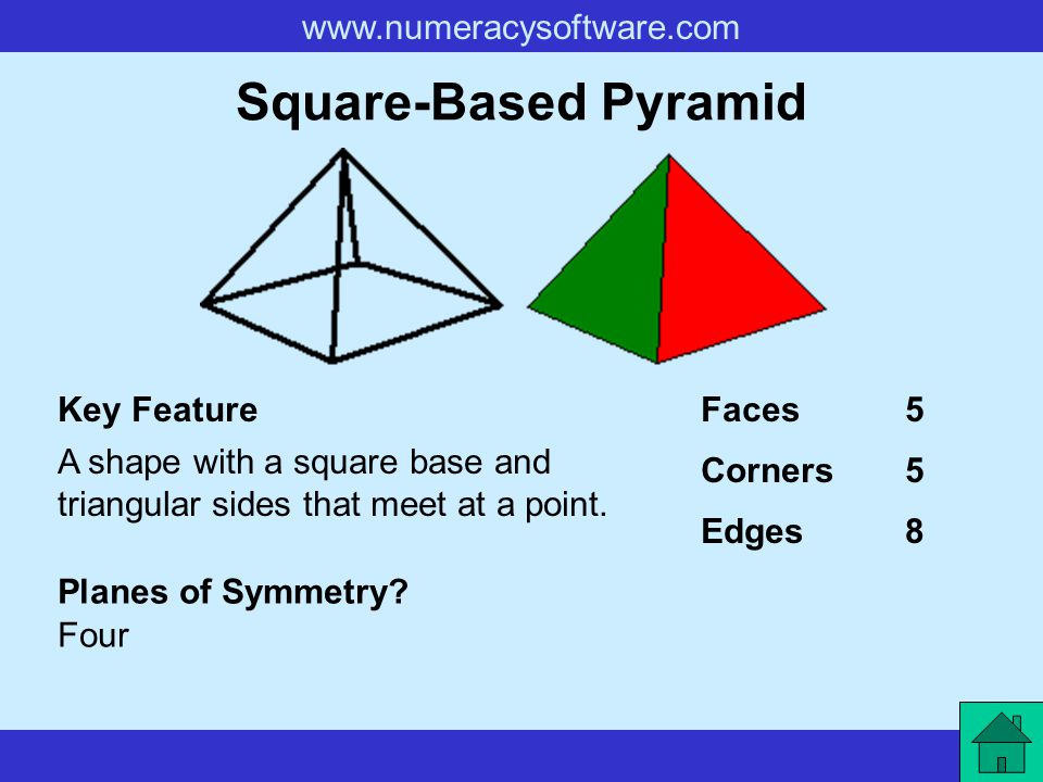 Square-Based Pyramid Key Feature Faces 5