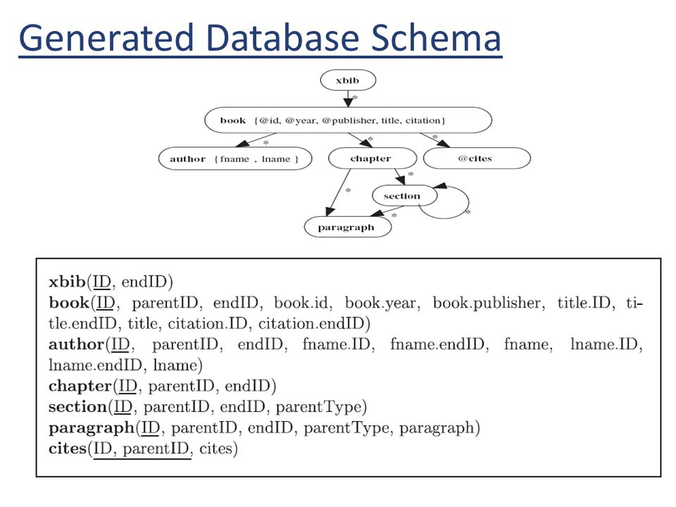 Generated Database Schema
