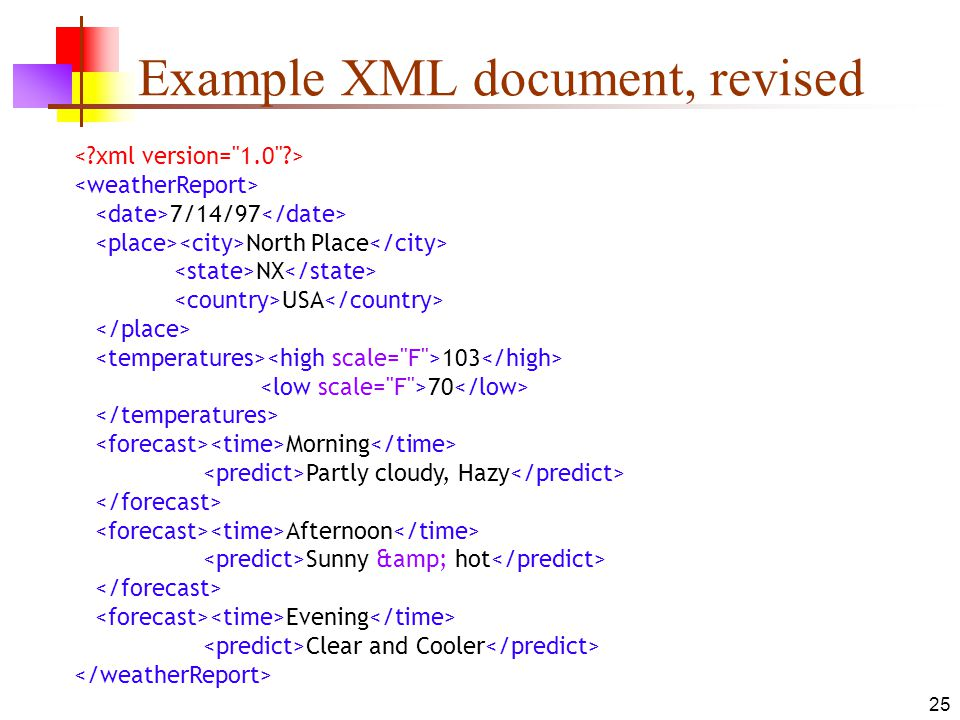 Example XML document, revised