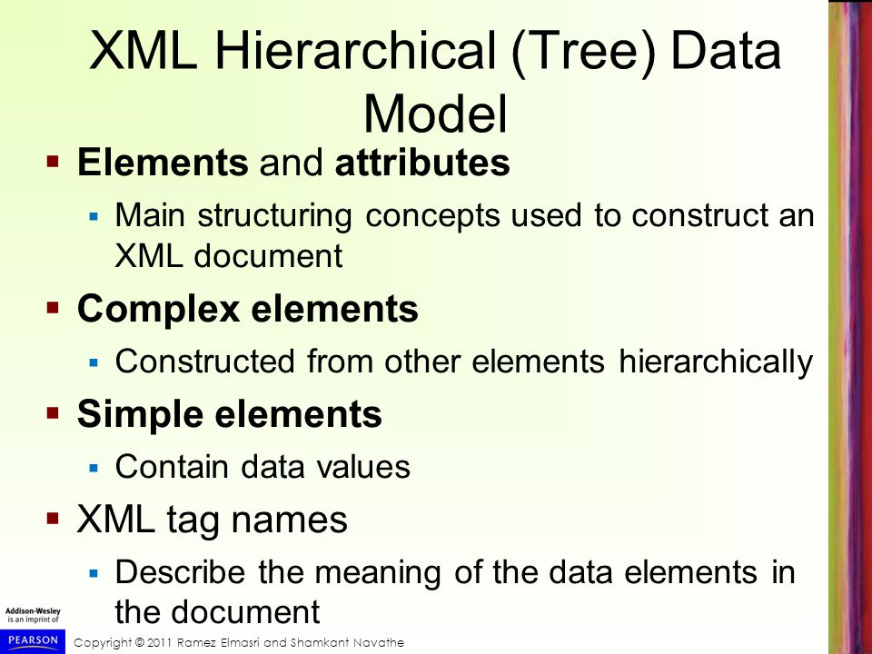 XML Hierarchical (Tree) Data Model