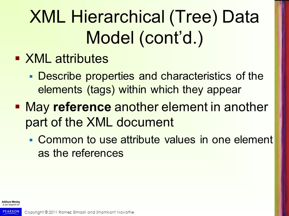 XML Hierarchical (Tree) Data Model (cont'd.)
