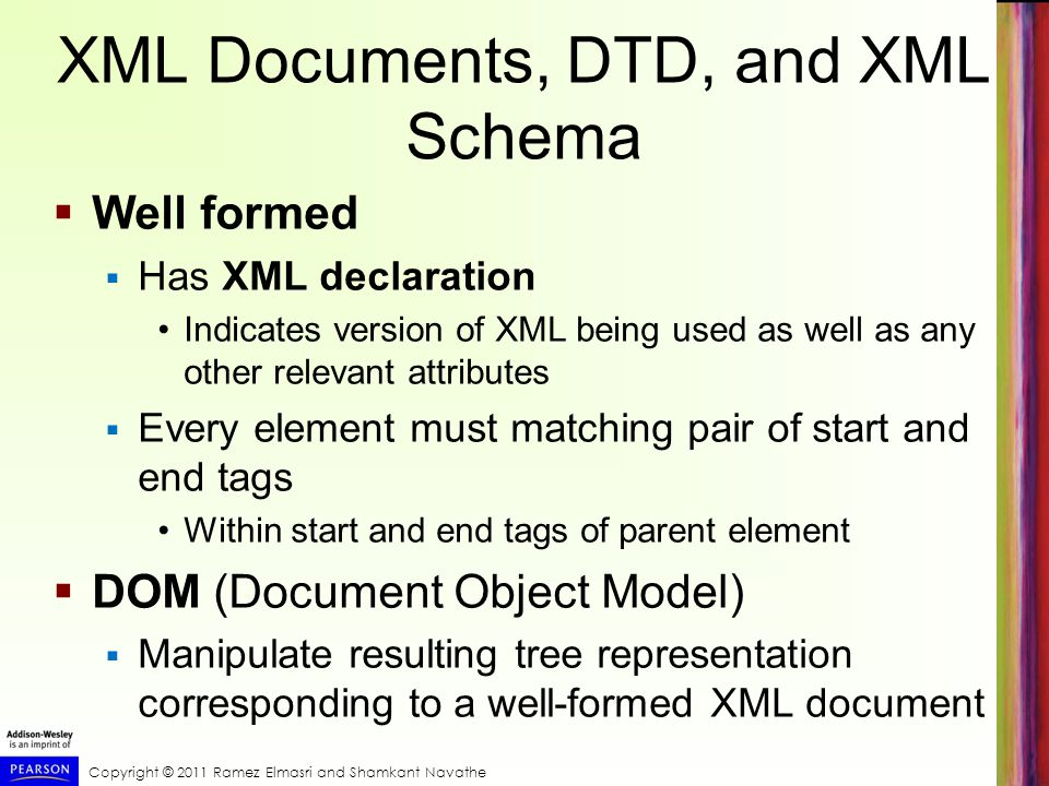 XML Documents, DTD, and XML Schema