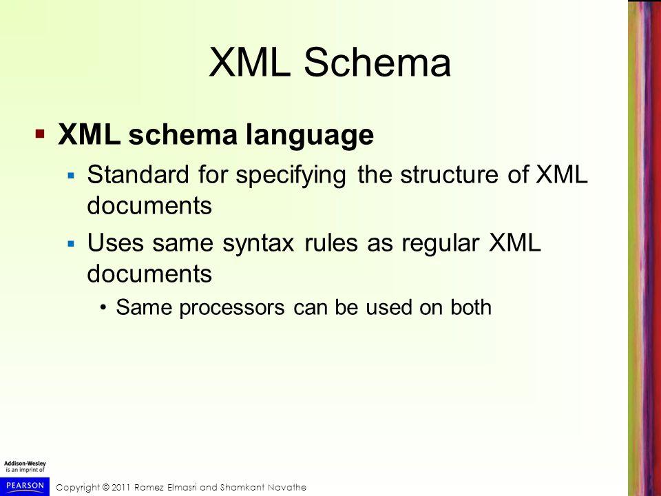 XML Schema XML schema language
