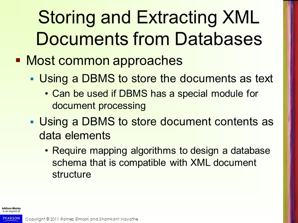 Storing and Extracting XML Documents from Databases