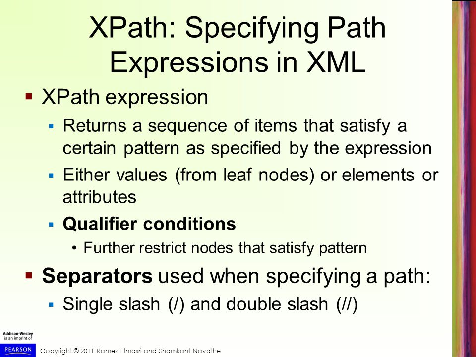 XPath: Specifying Path Expressions in XML
