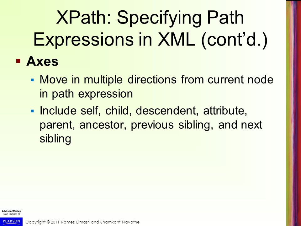 XPath: Specifying Path Expressions in XML (cont'd.)