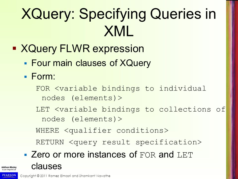 XQuery: Specifying Queries in XML