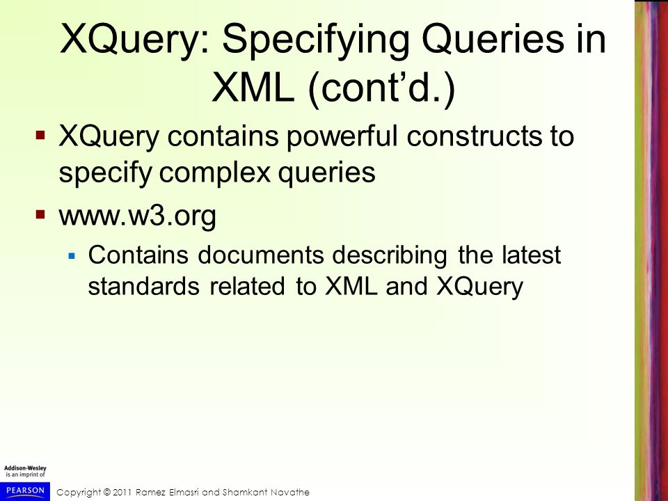 XQuery: Specifying Queries in XML (cont'd.)