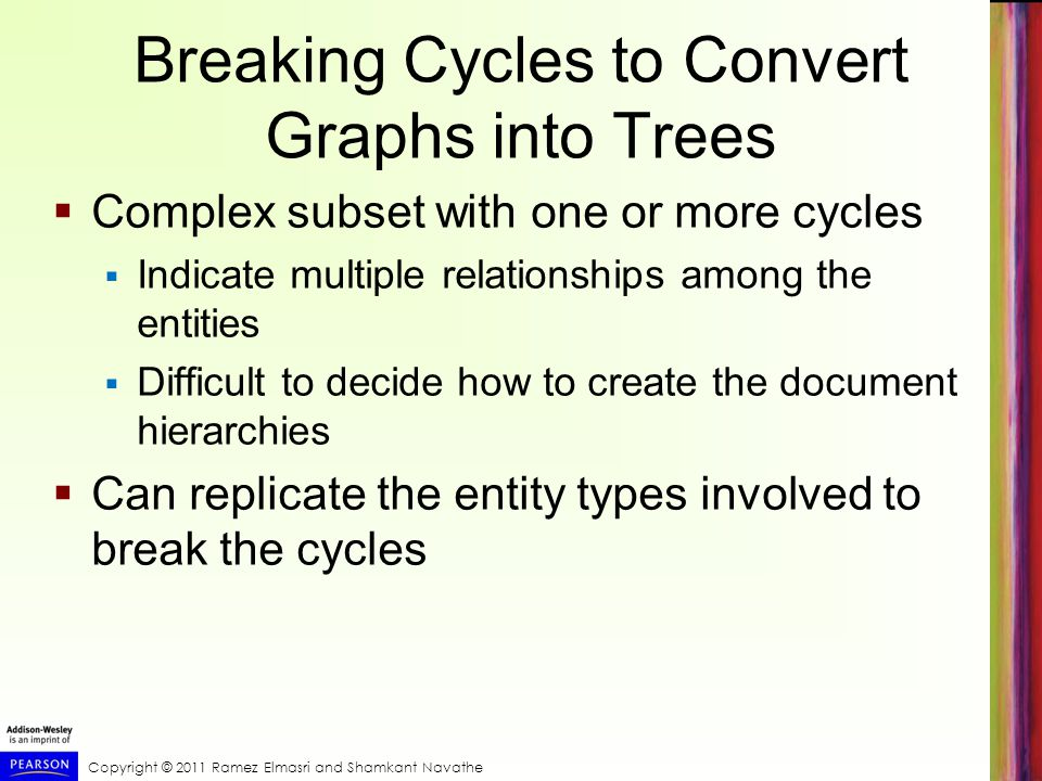 Breaking Cycles to Convert Graphs into Trees
