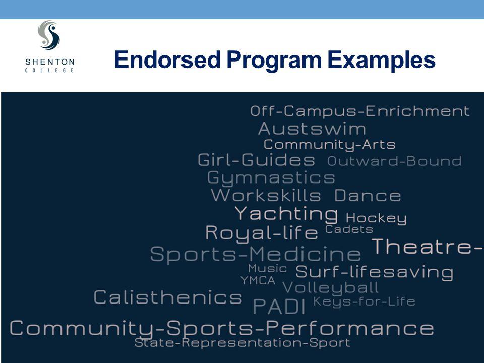 Endorsed Program Examples