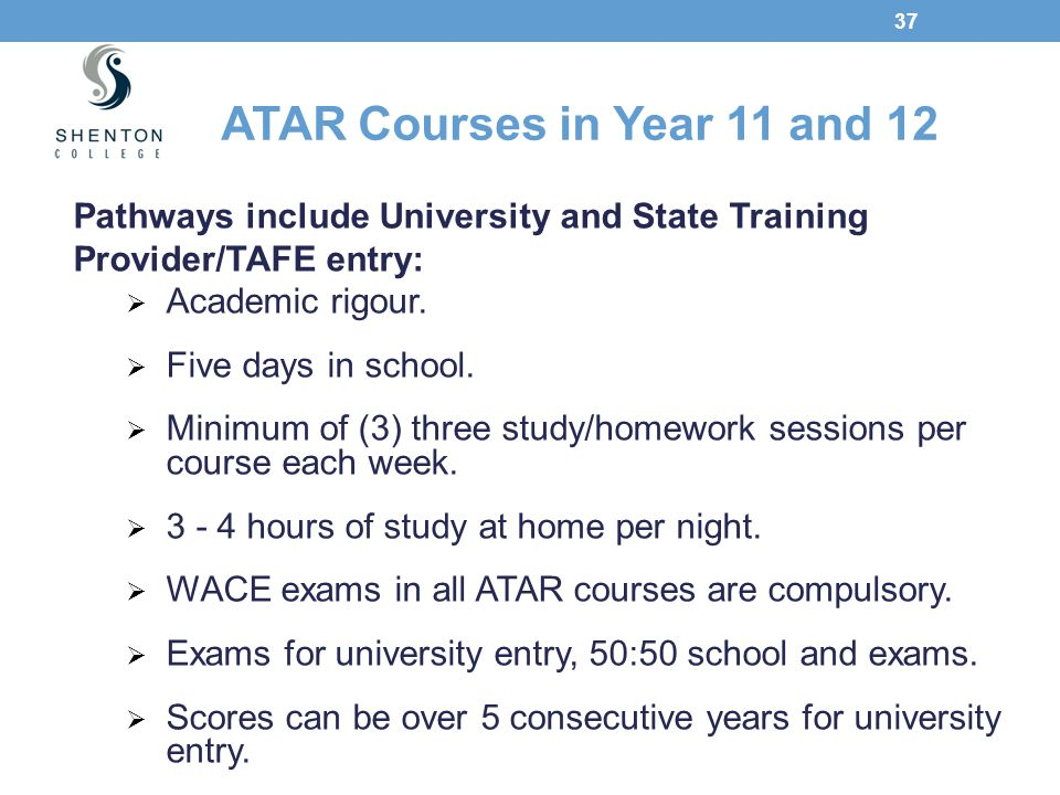 ATAR Courses in Year 11 and 12
