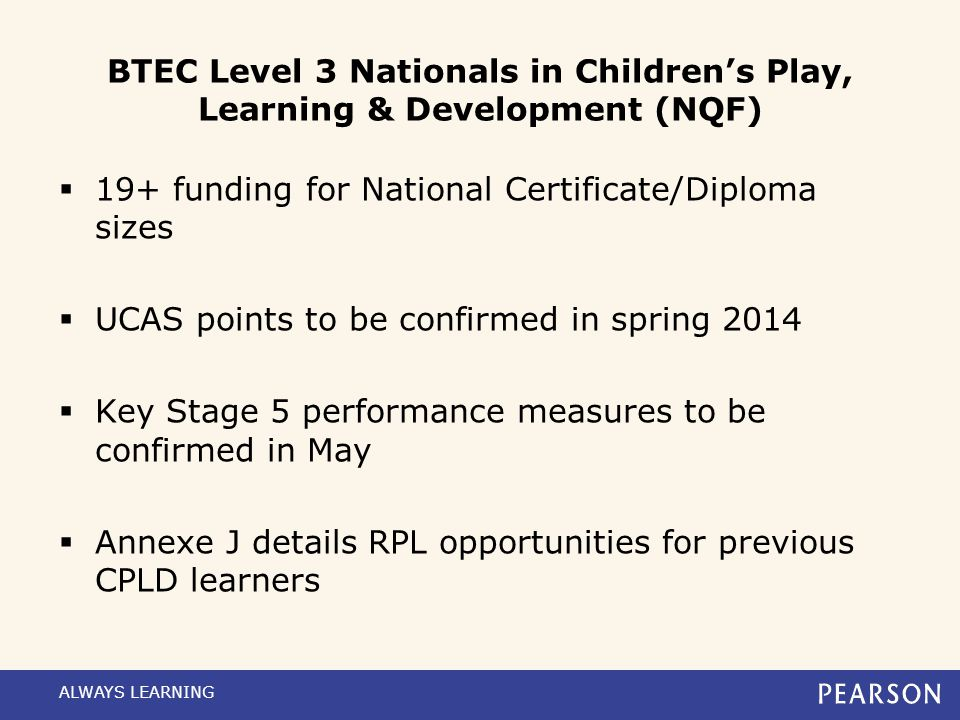 19+ funding for National Certificate/Diploma sizes