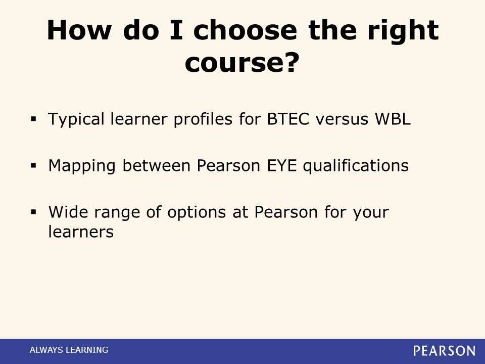 How do I choose the right course