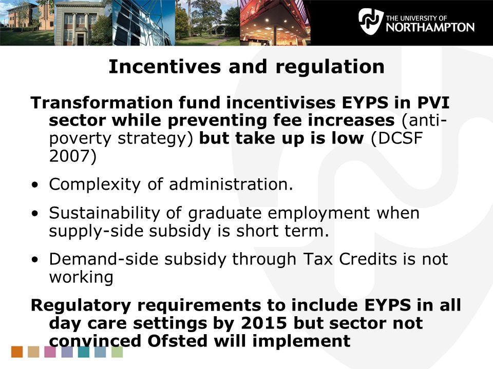 Incentives and regulation