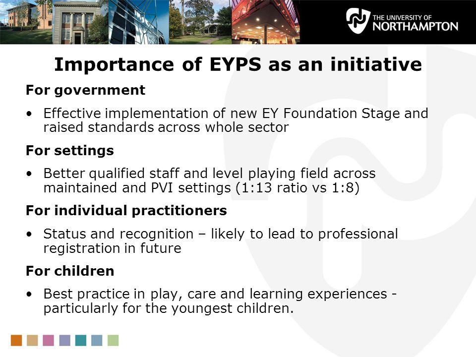Importance of EYPS as an initiative